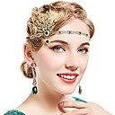 cheap Historical & Vintage Costumes-Floral Vintage 1920s The Great Gatsby Costume Women's Flapper Headband Silver / Green / Golden Vintage Cosplay Festival
