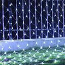 halpa Aitohiusperuukit-6 * 4 m merkkivalot 800 LED rgb valkoinen sininen vedenpitävä luova puolue 220-240 v 1 sarja