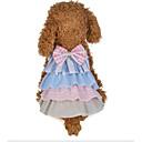 abordables Ropa para Perro-Perros Gatos Vestidos Ropa para Perro Bloques Gris Rosa Algodón Disfraz Para Pomerania Verano Mujer Elegante Estilo lindo