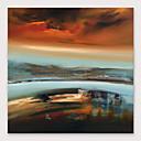 levne Abstraktní malby-Hang-malované olejomalba Ručně malované - Abstraktní Moderní Obsahovat vnitřní rám
