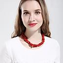 זול תיקי אלכסון-בגדי ריקוד נשים קריסטל שרשראות מחרוזת Collar קלאסי עיצוב מיוחד וינטאג' אבן קשת אדום כחול 50 cm שרשראות תכשיטים 1pc עבור יומי רחוב
