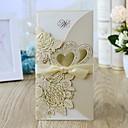 povoljno Naljepnice, etikete i privjesci-Zamotajte & Pocket Vjenčanje Pozivnice 10pcs - Pozivnice Cvjetni Style Pearl papira 21.5*11.5 cm Satin Bow
