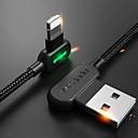 voordelige Mobiele telefoon kabels & Oplader-Verlichting Kabel 1m-1.99m / 3ft-6ft Gevlochten / Snelle kosten Nylon USB kabeladapter Voor iPhone