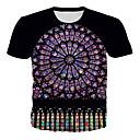 preiswerte Gesichtspflegegeräte-Herrn 3D Übergrössen T-shirt, Rundhalsausschnitt Druck Regenbogen XXXXL