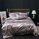 זול כיסוי שמיכות מוצק-סטי שמיכה אחיד / פאר כותנה ג'אקארד 4 חלקיםBedding Sets