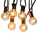 preiswerte LED-Globusbirnen-7.62M Leuchtgirlanden 25 LEDs Warmes Weiß Wasserfest / Party / Dekorativ 110-120 V 1 set