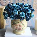 זול חפצים דקורטיביים-פרחים מלאכותיים 5 ענף קלאסי ארופאי סגנון מינימליסטי ורדים פרחים נצחיים פרחים לשולחן