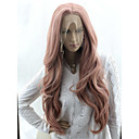 cheap Synthetic Lace Wigs-Wig Accessories Body Wave / Loose Curl Style Asymmetrical Machine Made / Lace Front Wig Pink Pink+Red Synthetic Hair 24 inch Women's Fashionable Design / Party / Hot Sale Pink Wig Very Long Cosplay