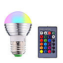 זול נורות LED חכמות-1pc 3 W נורות חכמות לד 200-250 lm E14 E26 / E27 1 LED חרוזים SMD 5050 Smart Spottivalo עובד עם שלט רחוק RGBW 85-265 V