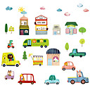 cheap Framed Arts-Fresh cartoon car children's room self-adhesive wallpaper stickers bedroom bedside decoration wall stickers stickers
