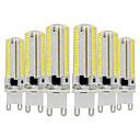 povoljno Ekstenzije od ljudske kose-ywxlight® 6pcs g9 dimmable silikonska žarulja kukuruza 3014 smd 152led štedna žarulja 7w (70w halogena ekvivalent) LED žarulja za kućno osvjetljenje