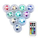 hesapli Su Altı Işıkları-10pcs 3 W Sualtı Işıkları Su Geçirmez / Uzaktan kumandalı / Kısılabilir Değişim 1.2 V Vazolar ve Akvaryumlar için uygun 3 LED Boncuklar