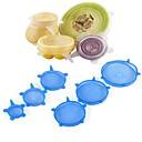 povoljno Pribor za voće i povrće-6pcs hrana oblozi za višekratnu upotrebu silikona hrana svježe drži zapečaćene pokriva silikonska pečat vakuum proteže se poklopci saran oblozi
