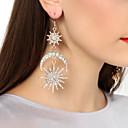 ราคาถูก ตุ้มหู-สำหรับผู้หญิง Cubic Zirconia Drop Earrings ต่างหูห้อย ป้องกันแดด MOON Star เกี่ยวกับยุโรป แฟชั่น ที่ทันสมัย ที่มีขนาดใหญ่ ต่างหู เครื่องประดับ สีทอง / บรอนซ์ สำหรับ / 1 คู่
