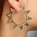 tanie Modne kolczyki-Damskie Geometryczny Kolczyki Hoop Kolczyki Kolczyki Prosty Europejskie Moda Nowoczesny Biżuteria Złoty Na Codzienny Ulica Praca Bar 1 para