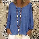 povoljno Modne ogrlice-Majica s rukavima Žene Jednobojni Kolaž Crvena