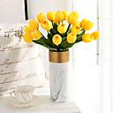 abordables Flores Artificiales-Flores Artificiales 6 Rama Clásico Europeo Ramos de Flores para Boda Tulipán Flores eternas Flor de Mesa