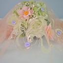 preiswerte Wedding Dress Fabric-Tüll Blumen Muster 130 cm Breite Stoff für Besondere Anlässe verkauft bis zum Meter