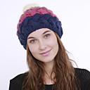 halpa Naisten hatut-Naisten Aktiivinen söpö tyyli Naisten lierihattu-Color Block Akryyli Syksy Talvi Oranssi Fuksia Viini