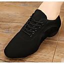 hesapli Caz Dans Ayakkabıları-Kadın's Dans Ayakkabıları Kanvas Caz Dans Ayakkabıları Oxford Kalın Topuk Kırmzı / Mavi / Performans / Egzersiz