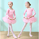 お買い得  バレエウェア-子供用ダンスウェア / バレエ ドレス 女の子 訓練 / 性能 コットン カスケーディングラッフル 長袖 ナチュラルウエスト ドレス