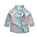 billige Lyd & Billede-Barn Gutt Aktiv Grunnleggende Ensfarget Fargeblokk Langermet Bomull Skjorte Regnbue