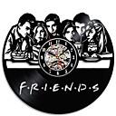 levne Nástěnné hodiny-3d kreativní přátelé tv série cd záznam hodiny černá dutá vinyl záznam nástěnné hodiny starožitný styl visí vedl hodiny domácí dekorace