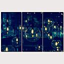 hesapli Tablolar-Boyama Gerdirilmiş Tuval Resimleri - Soyut Geleneksel Modern Üç Panelli Sanatsal Baskılar