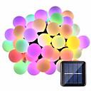 povoljno Svjetla putanja-15m Žice sa svjetlima 100 LED diode 1 Postavite nosač montaže Toplo bijelo / RGB / Bijela Vodootporno / Sunce / Kreativan Napelemes 1set