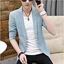 זול כיסוי לאופניים-לבן / שחור / כחול סקיי אחיד גזרה צרה פוליאסטר חליפה - פתוח Single Breasted One-button