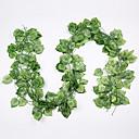 levne Umělé rostliny-12ks květ vinná réva 72ks list 1 kus 2m domácí dekorace umělý břečťan list girlanda rostlina révy falešný list květ plaz zelený břečťan věnec