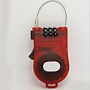 billige Bil-DVR-tørkodet låsekabel / plastpassord opplåsing for koffert / verktøykasse