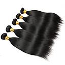 tanie Dopinki naturalne-6 pakietów Włosy brazylijskie Prosta Zestawy w 100% Remy Weave Fale w naturalnym kolorze Pakiet włosów Pakiet One Solution 8-28inch Kolor naturalny Ludzkie włosy wyplata Noworodek Wodospad Śłodkie
