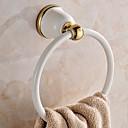 זול מוטות למגבות-מתלה מגבת עיצוב חדש / מגניב מודרני מתכת 1pc טבעת מגבת מותקן על הקיר