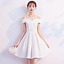 저렴한 파티 헤드피스-A-라인 환상 목걸이 숏 / 미니 새틴 드레스 와 주름 으로 LAN TING Express