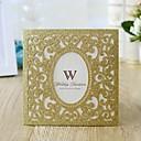 """povoljno Pozivnice za vjenčanje-Zamotajte & Pocket Vjenčanje Pozivnice 10pcs - Pozivnice Na točkice / Shiny Metallic / Cvjetni Style Pearl papira 6 """"x 6"""" (15 * 15cm)"""