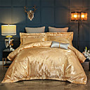 cheap High Quality Duvet Covers-Duvet Cover Sets Solid Colored / Luxury Cotton Jacquard 4 PieceBedding Sets