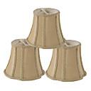 halpa Hääbolerot-pienet lampunvarjostimet / kattokruunut / kangaslampunvarjostin / 6 tuuman lampunvarjostimet / tumman keltaiset lampunvarjostimet