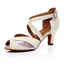 זול נעליים לטיניות-בגדי ריקוד נשים נעלי ריקוד דמוי עור נעליים לטיניות עקבים עקב קובני מותאם אישית זהב / שחור / כסף / הצגה / אימון