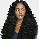 זול פיאות תחרה משיער אנושי-שיער אנושי חזית תחרה פאה חלק חינם בסגנון שיער ברזיאלי מתולתל שחור פאה 130% צפיפות שיער נשים בגדי ריקוד נשים ארוך אחרים Clytie