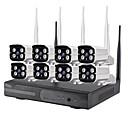 Недорогие IP-камеры для помещений-8-канальная система видеонаблюдения 960p Система безопасности HD Wireless Kit NVR Kit