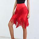 זול הלבשה לריקודים לטיניים-ריקוד לטיני חלקים תחתונים בגדי ריקוד נשים הצגה ספנדקס סלסולים / פרנזים טבעי חצאיות