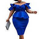 hesapli Moda Bileklikler-Kadın's Sokak Şıklığı sofistike Kombinezon Kılıf Elbise - Solid Midi
