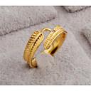 זול סטים של תכשיטים-בגדי ריקוד נשים פתח את הטבעת 1pc זהב זהב 18K מילא Geometric Shape מסוגנן מתנה יומי תכשיטים קלאסי נוצה חמוד