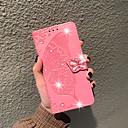 זול כיסויי שולחן-מגן עבור Xiaomi Xiaomi Pocophone F1 / Xiaomi Mi Play / Xiaomi Mi Max 3 ארנק / מחזיק כרטיסים / ריינסטון כיסוי מלא פרפר / פרח רך עור PU
