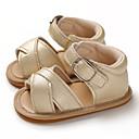 זול סנדלים לילדים-בנים / בנות צעדים ראשונים PU סנדלים תינוקות (0-9m) / פעוט (9m-4ys) שחור / ורוד / חום בהיר קיץ / גומי