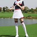 זול בגדי גולף-בגדי ריקוד נשים ושמלות טי שירט חליפות בגדים שרוולים קצרים גולף ריצה להתאמן בגדי ספורט ומנוחה בָּחוּץ סתיו אביב קיץ / כותנה / מיקרו-אלסטי / נושם