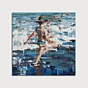 halpa Abstraktit maalaukset-Hang-Painted öljymaalaus Maalattu - Ihmiset Moderni Ilman Inner Frame