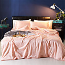 cheap Solid Duvet Covers-Duvet Cover Sets Solid Colored Poly / Cotton Yarn Dyed 4 PieceBedding Sets