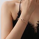 abordables Bague-Bracelet Femme Géométrique Vague Coréen Bracelet Bijoux Dorée Noir Argent pour Quotidien Ecole Festival